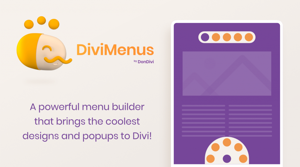 DiviMenus. A powerful menu builder that brings the coolest designs and popups to Divi!