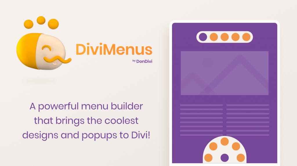 DiviMenus. A powerful menu builder that brings the coolest designs and popups to Divi!