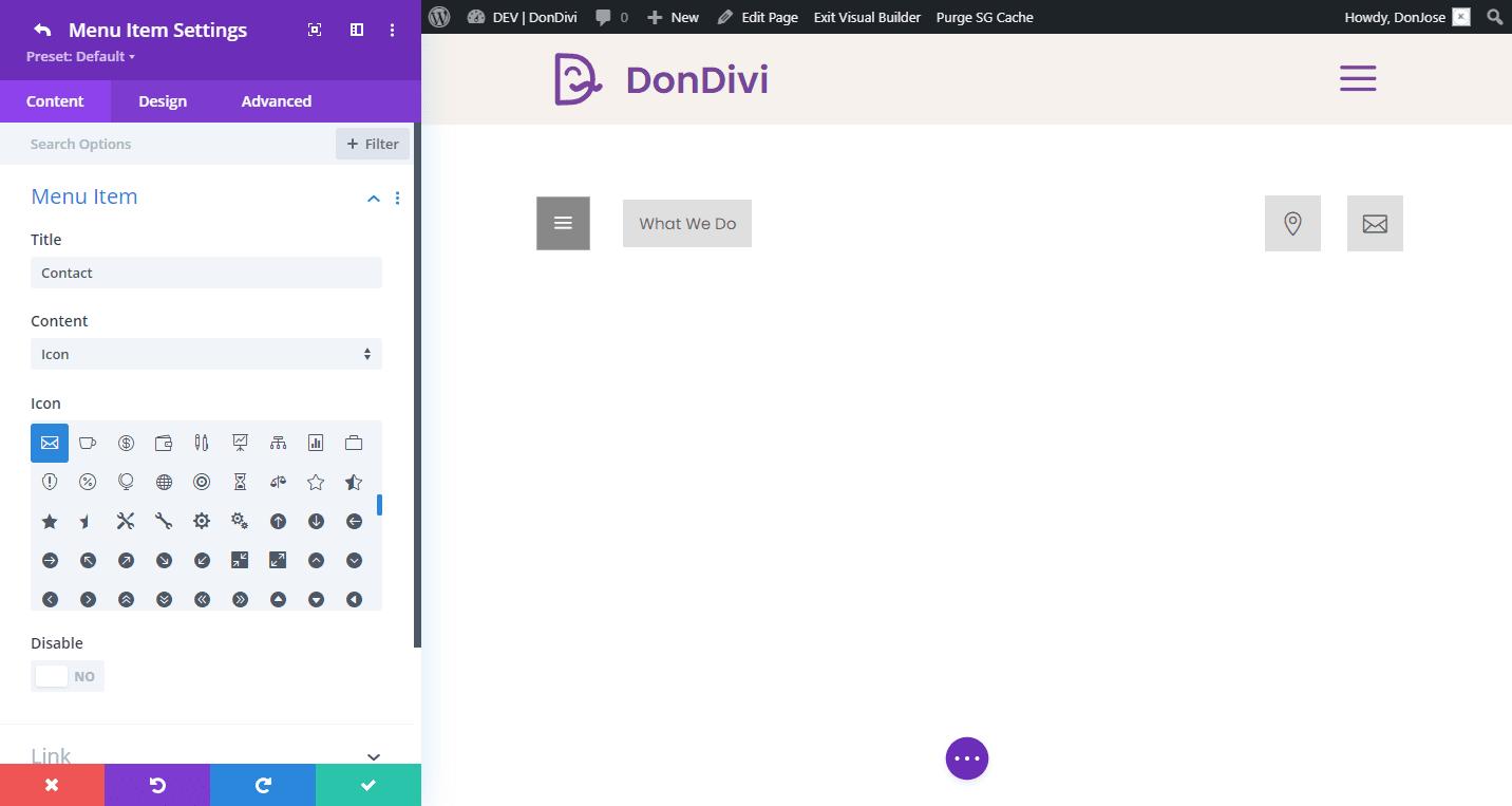 DiviMenus Flex - Menu Items 2